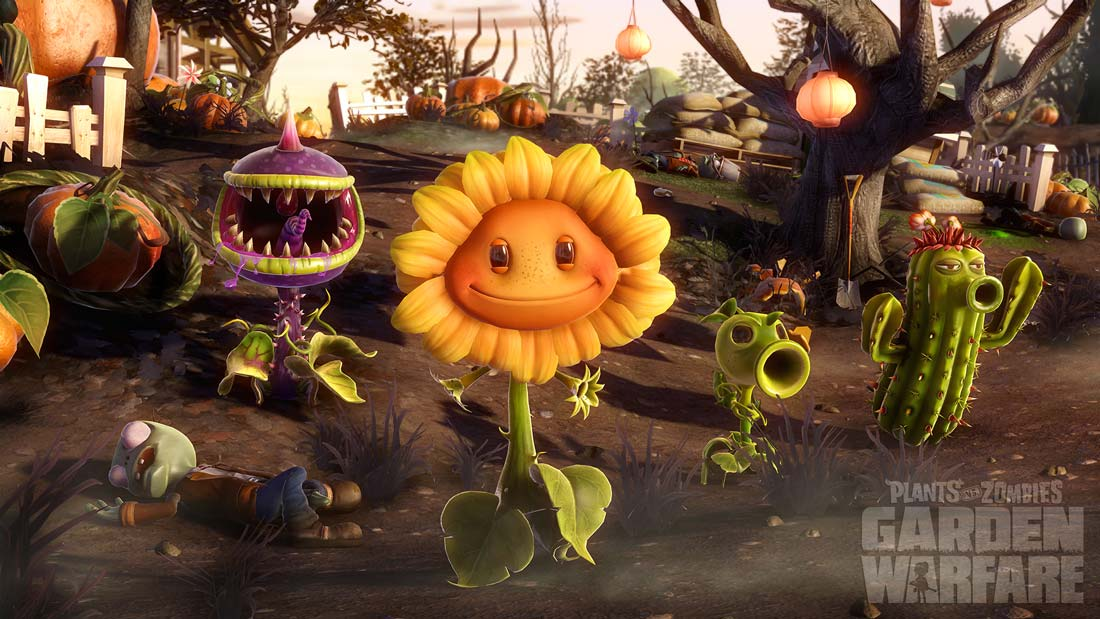 The Garden Warfare all-star plant team